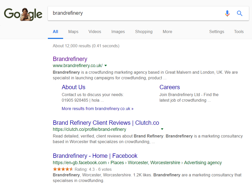 "Google Search for ""brandrefinery"""