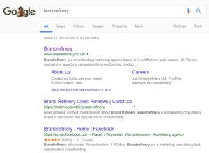 "Google Search for ""brandrefinery"""
