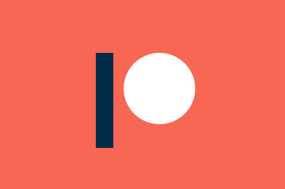 Minimal style logo for Patreon.com